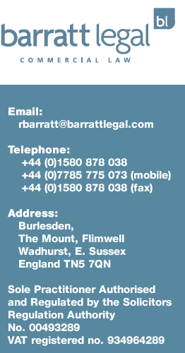 Barratt Legal Contact